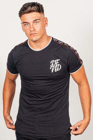 Men's Solomon T-Shirt in Black - DEFEND LONDON