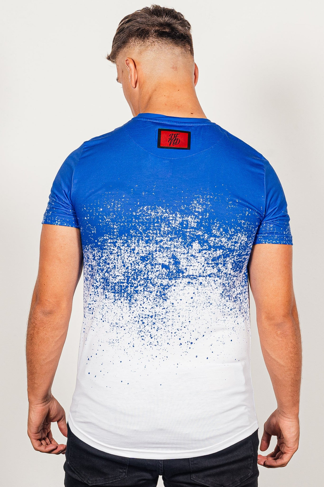 Men's Dust T-Shirt in Blue - DEFEND LONDON