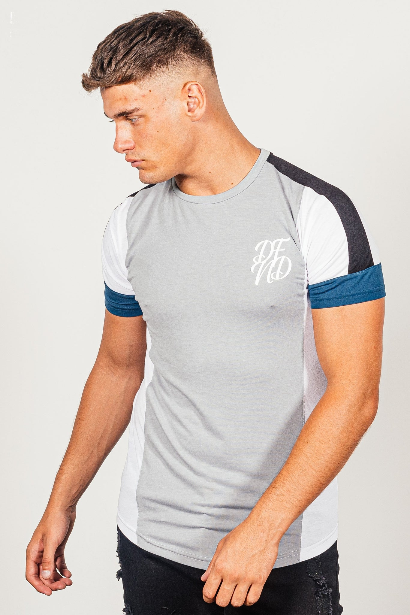 Men's Brant T-Shirt in Grey - DEFEND LONDON
