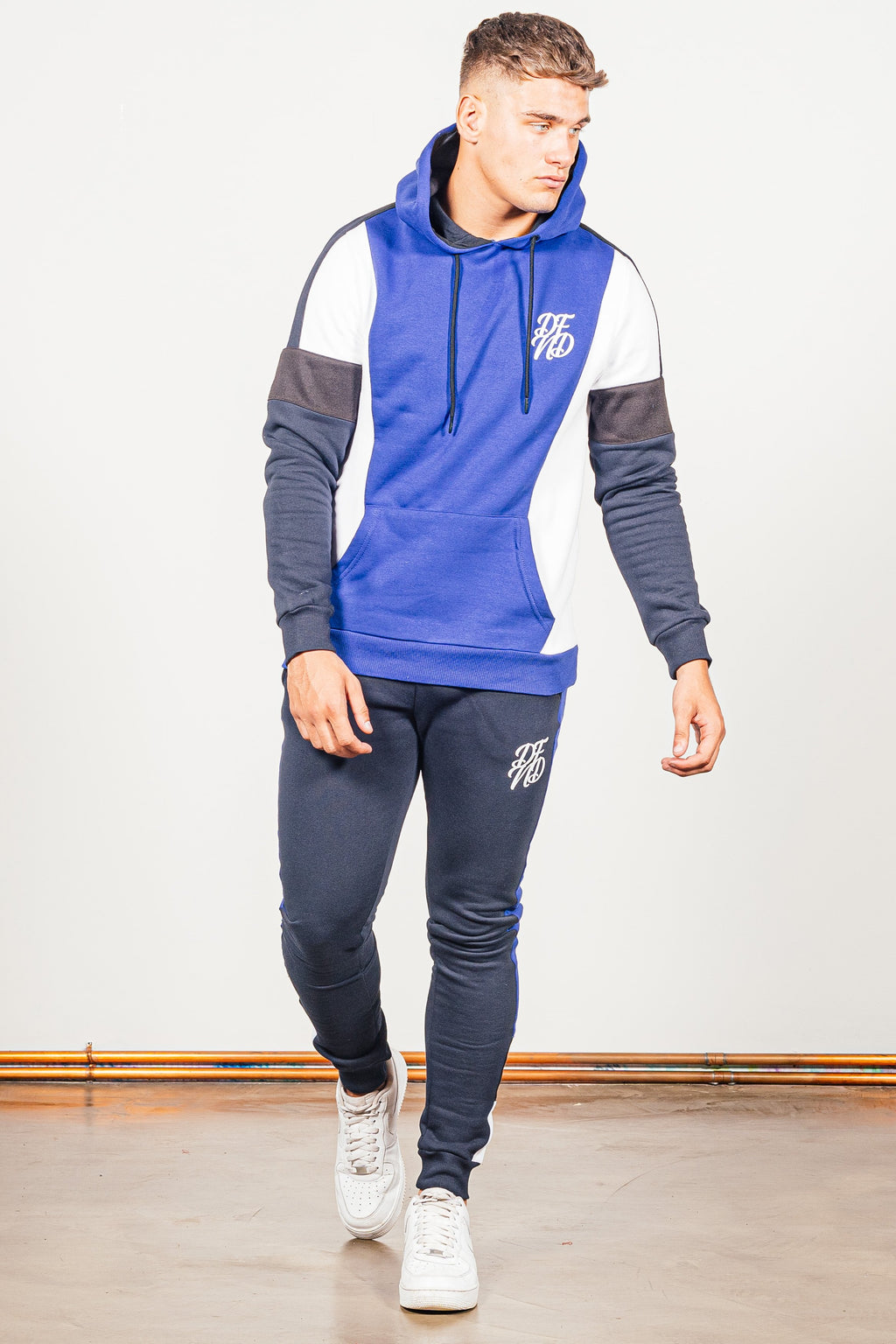 Men's Brant Tracksuit in Blue - DEFEND LONDON