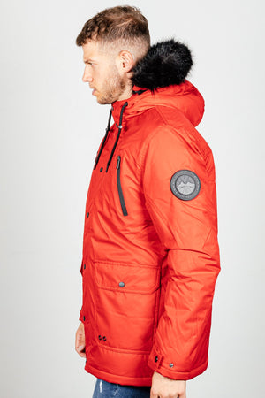 Men's Hawks Jacket in Red