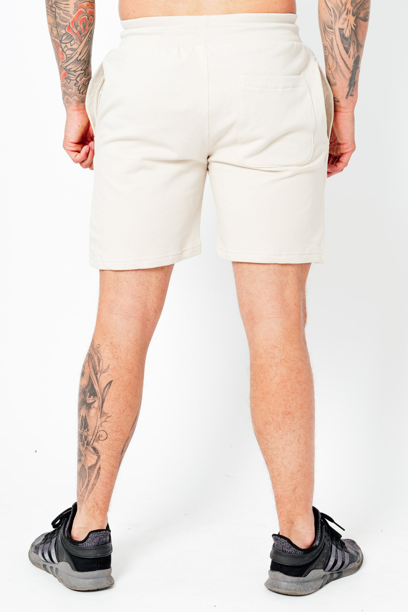 Men's Wright Two Pack Shorts in Stone & Dusty Pink - DEFEND LONDON