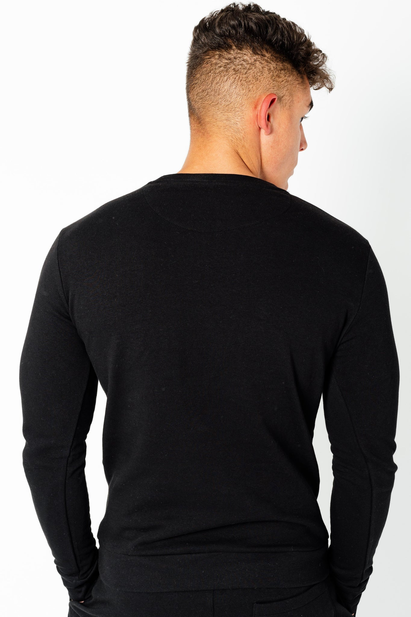 Men's Wright Two Pack Sweatshirts in Grey Marl & Black - DEFEND LONDON