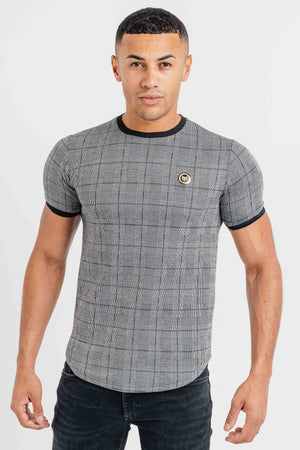 Men's Caption T-Shirt in Grey