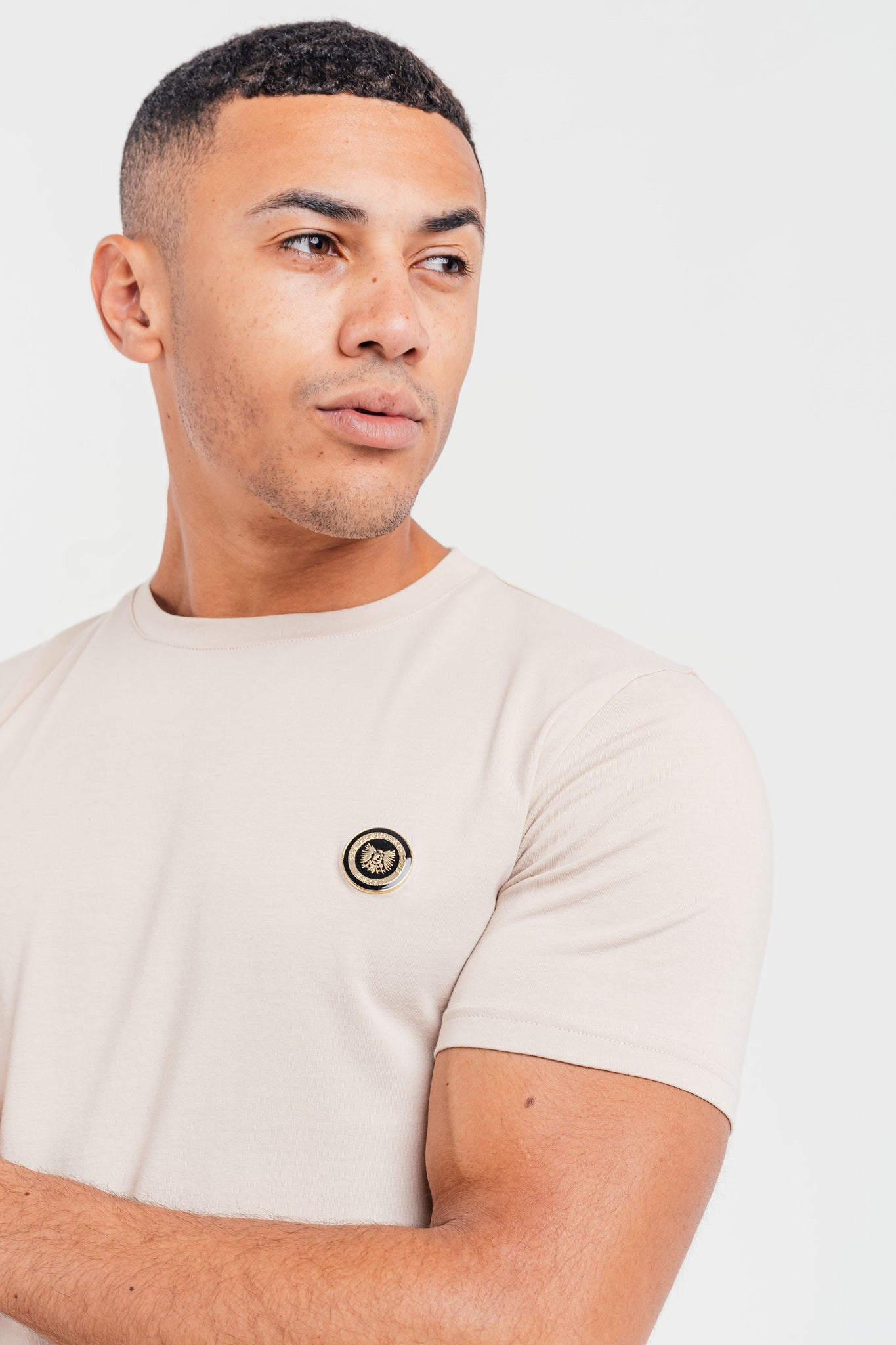 Men's Medal T-Shirt in Ecru