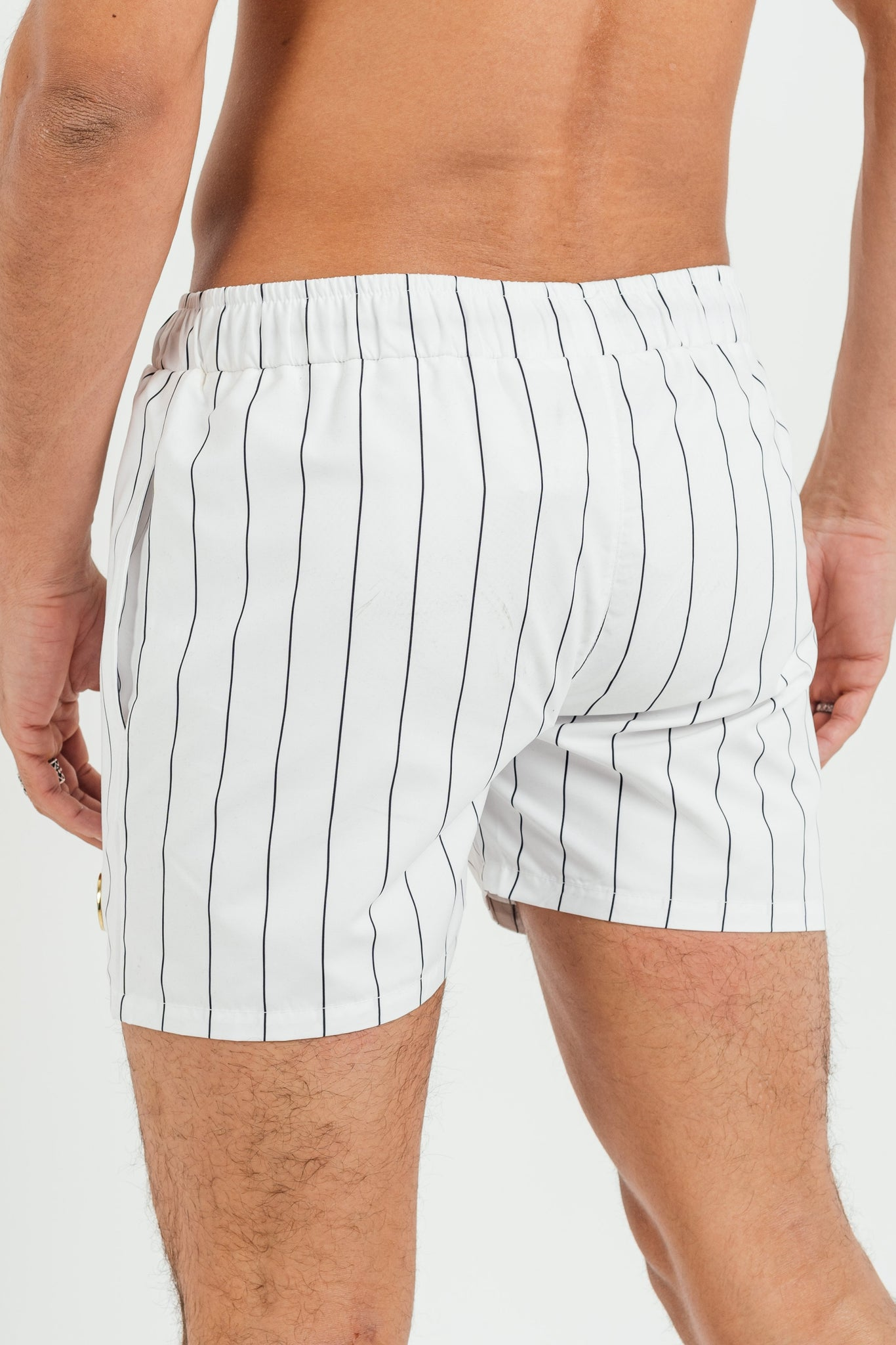Men's Stitch Swim Shorts in White