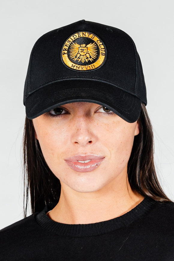 Women's Shield Cap in Black