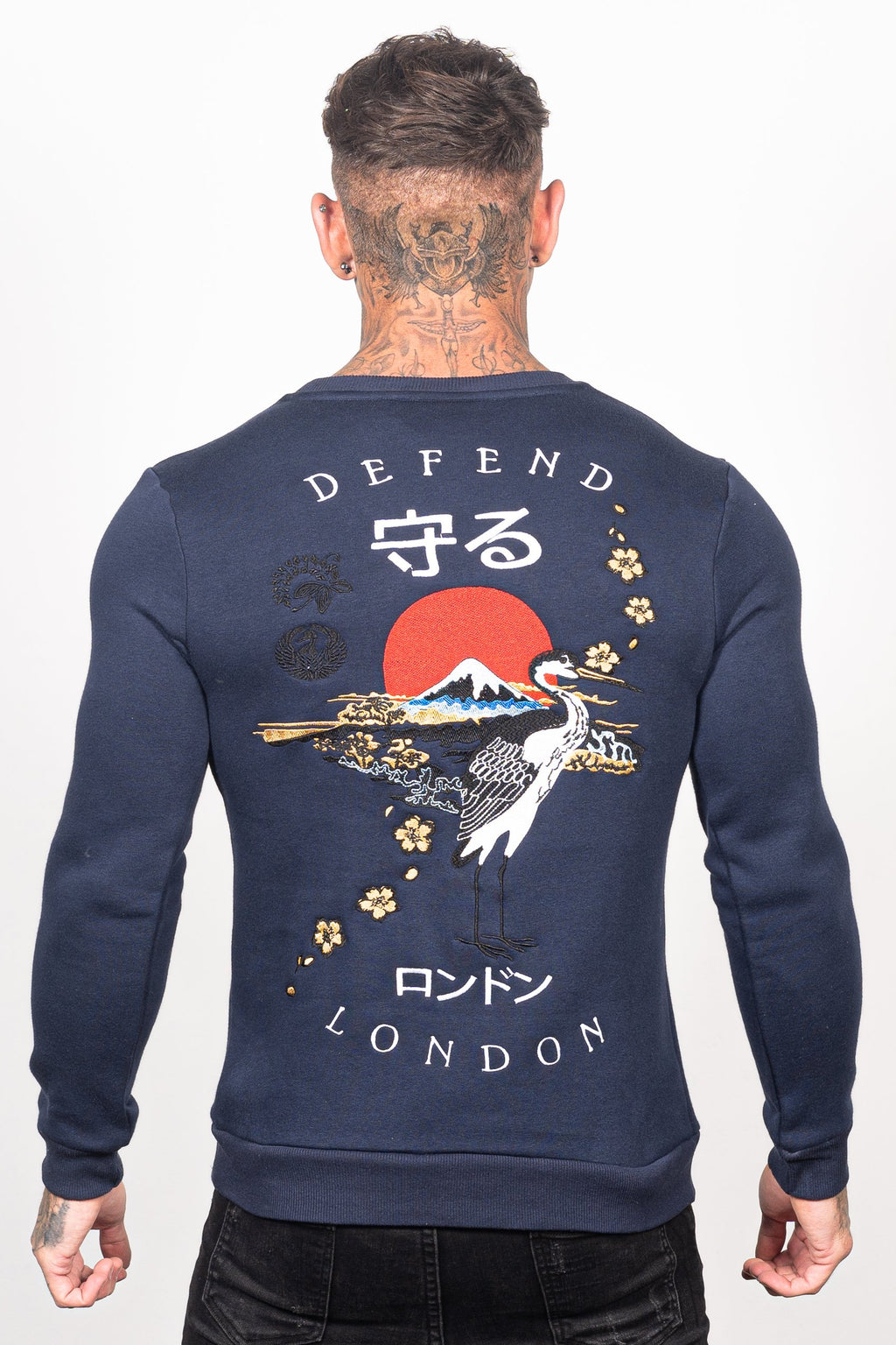 Men's Spirit Sweatshirt in Navy - DEFEND LONDON
