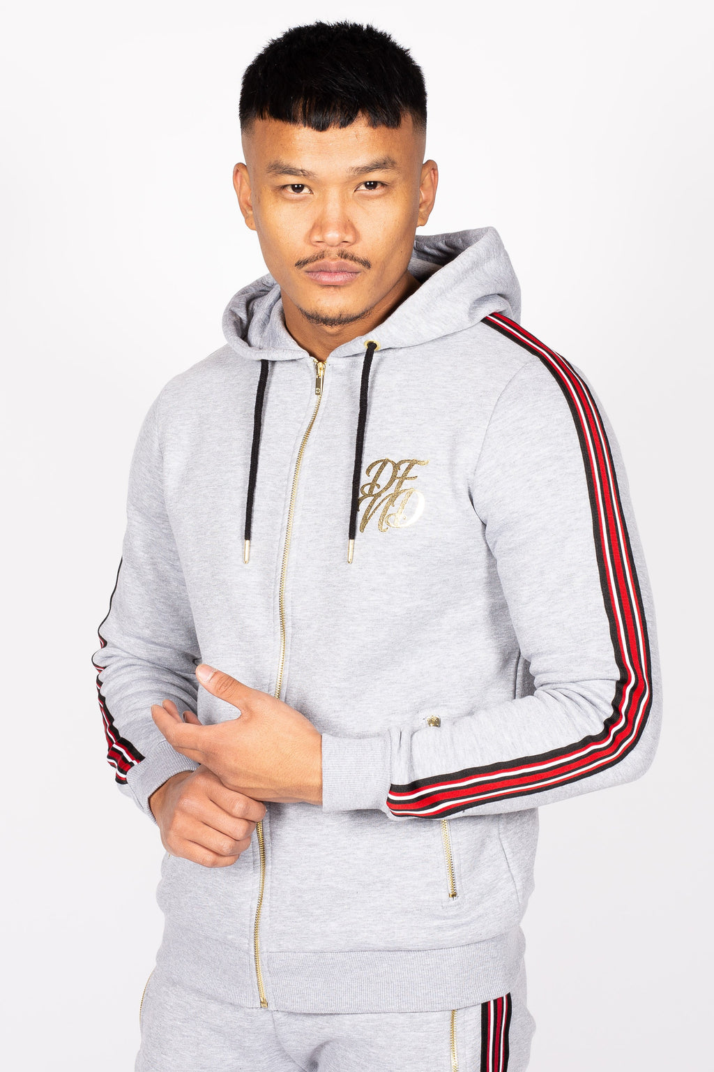 Men's Baller Hoodie in Grey - DEFEND LONDON