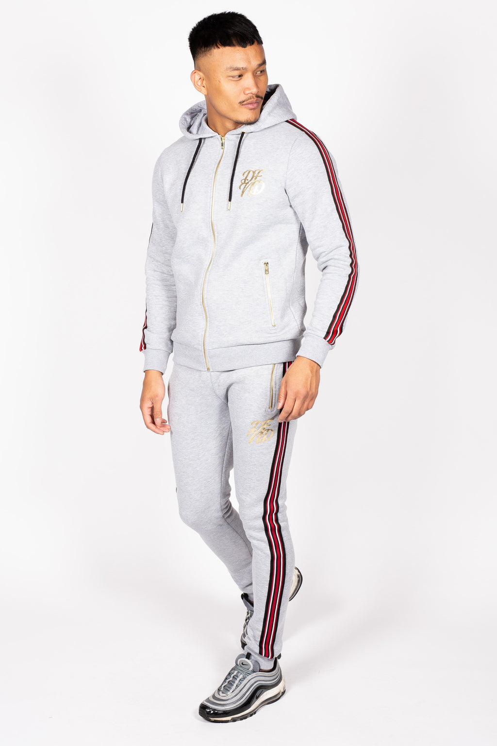 Men's Baller Tracksuit in Grey - DEFEND LONDON