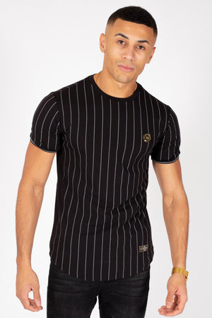 Men's Formal T-Shirt in Black