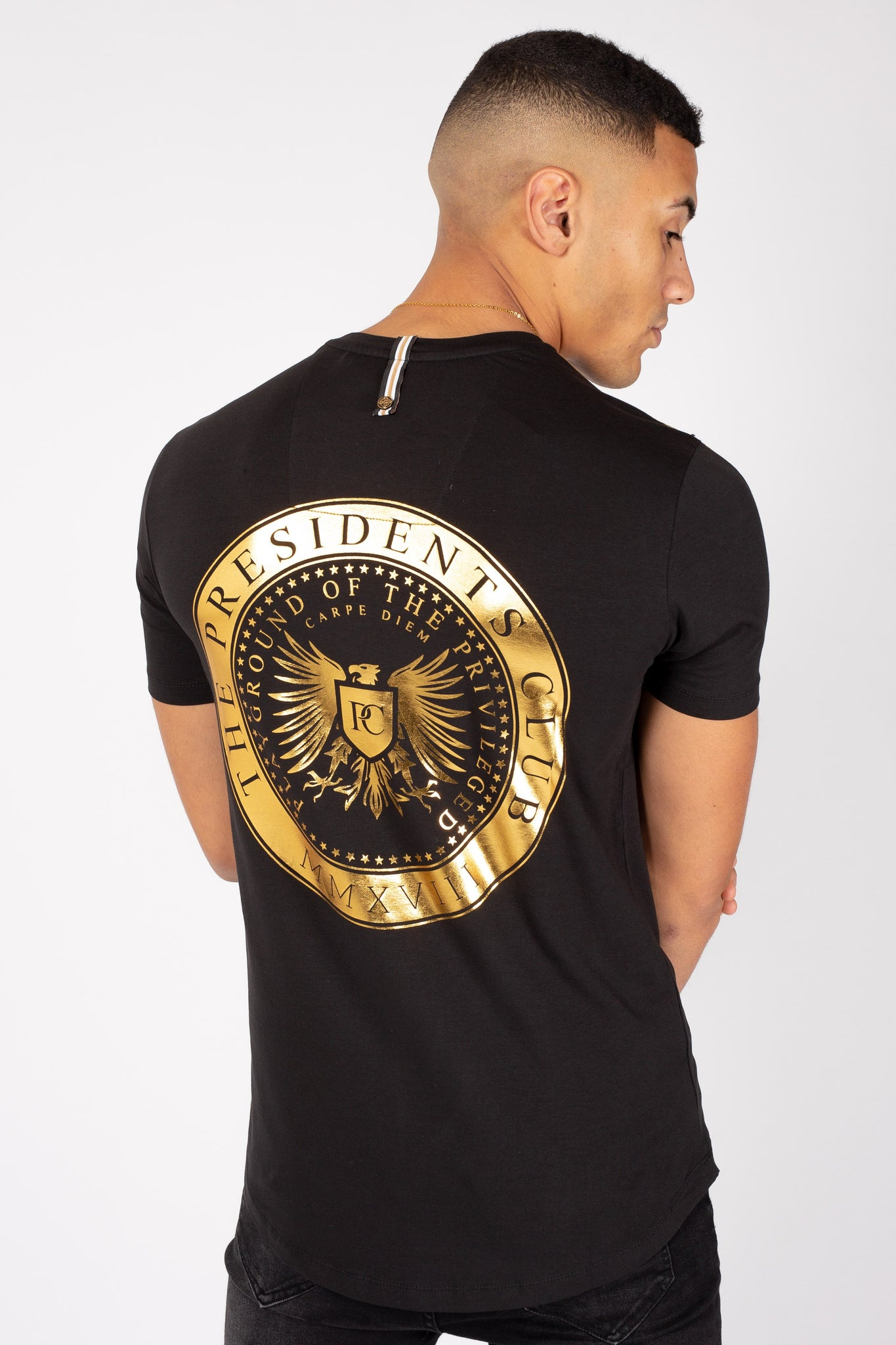 Men's Crest T-Shirt in Black