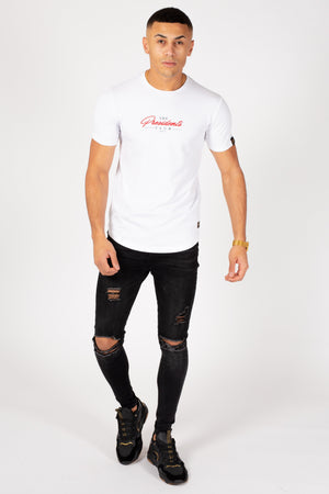 Men's Blown T-Shirt in White