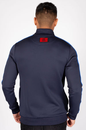 Men's Linx Track Top in Navy - DEFEND LONDON