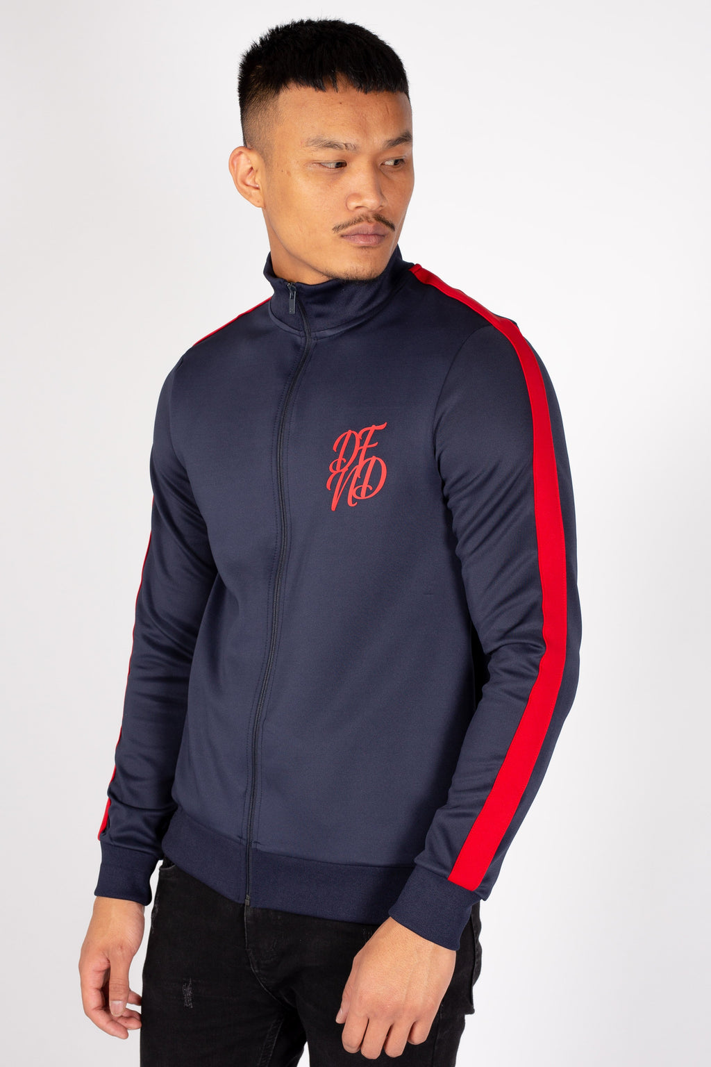 Men's Bricks Track Top in Navy - DEFEND LONDON