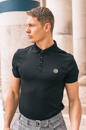 Men's Hillside Polo T-Shirt in Black