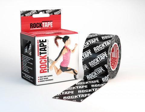 RockTape Kinesiology Tape - 5cm x 5m - Black Logo