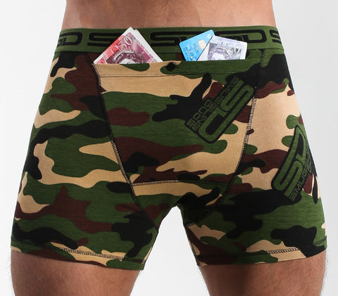 SMUGGLING DUDS POCKET UNDERWEAR- JUNGLE CAMO
