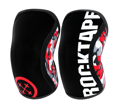 RockTape Assassins Knee Support 5MM Red Camo - Small (Pair)