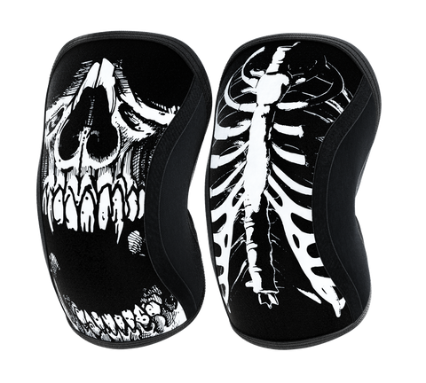 RockTape Assassins Knee Support 5MM Black/Skull - Large (Pair)