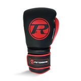 Ringside Pro Training G2 Velcro Leather Glove Black/Red/White - 10oz