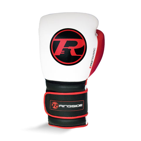 Ringside Pro Training G2 Velcro Leather Glove White/Red/Black- 10oz