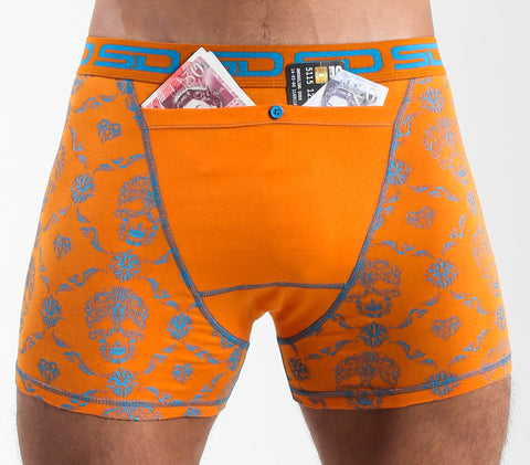 SMUGGLING DUDS POCKET UNDERWEAR- SKULL CHECK