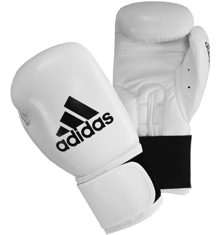 adidas Performer Boxing Gloves White - 16oz