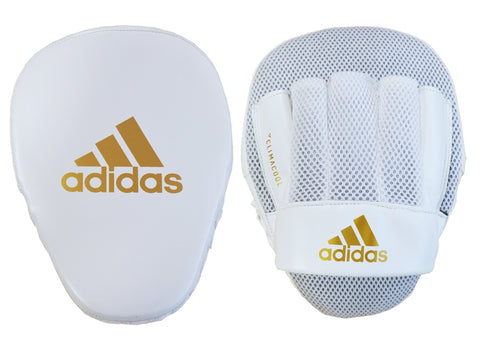 adidas Speed Mesh Focus Mitts - White/Gold