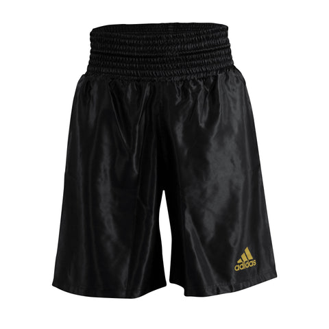 adidas Satin Boxing Shorts Black/Gold - Large
