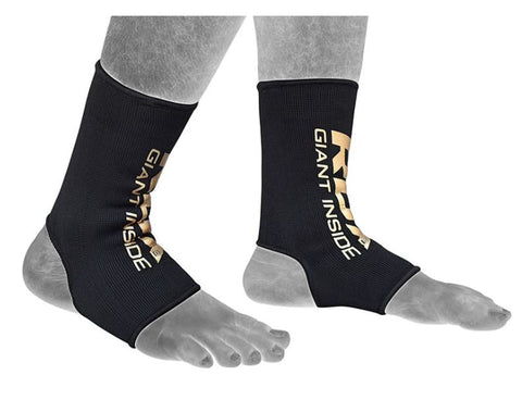 RDX AB Anklet Sleeve Socks - Black/Gold - Medium