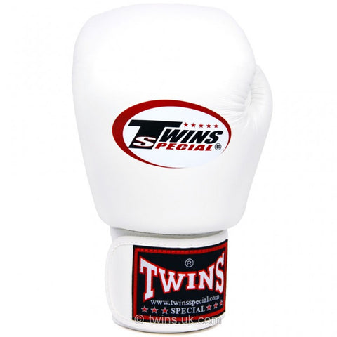 Twins BGVL3 Velcro Boxing Gloves White - 14oz