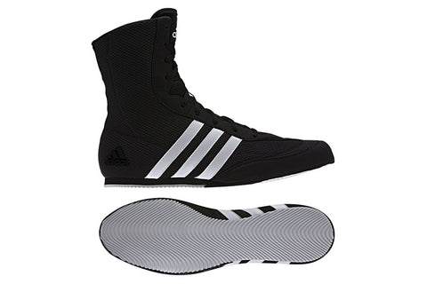 adidas Box Hog 2 Boxing Boots Black/White - Size 7