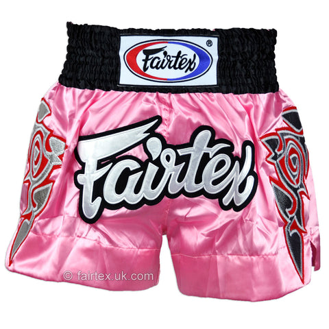 Fairtex BS0636 Modern Thai Art Muay Thai Shorts Pink - Medium
