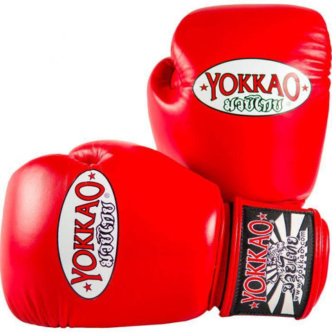 Yokkao Matrix Velcro Boxing Gloves Red - 16oz