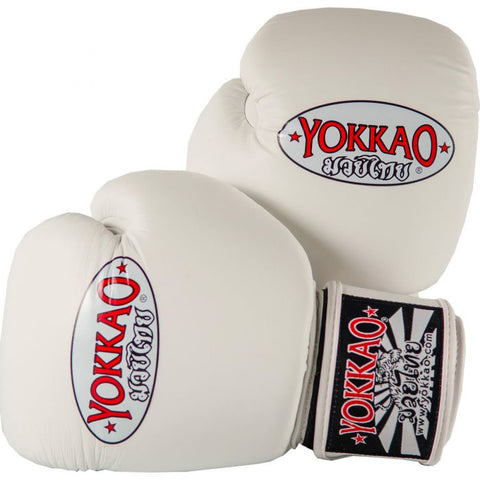 Yokkao Matrix Velcro Boxing Gloves White - 10oz