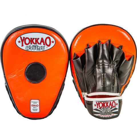 Yokkao Curved Focus Mitts - Black/Orange