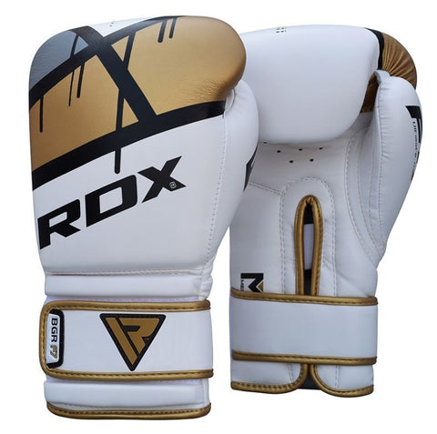 RDX F7 Ego Boxing Gloves - Golden - 14oz