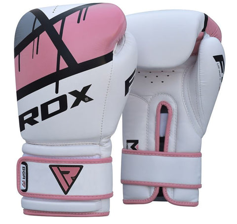 RDX F7 Ego Boxing Gloves - Pink - 12oz