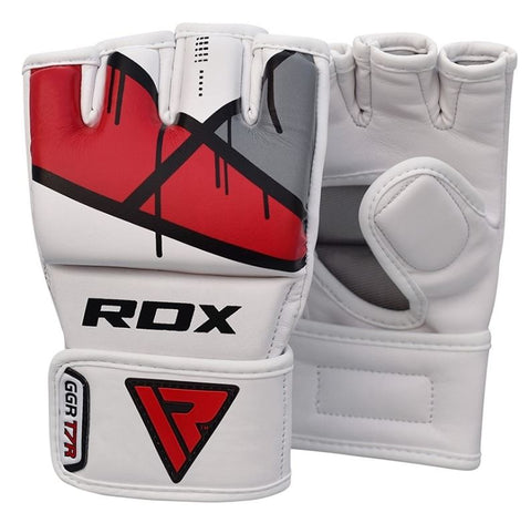 RDX T7 Ego MMA Grappling Gloves - Red - Large