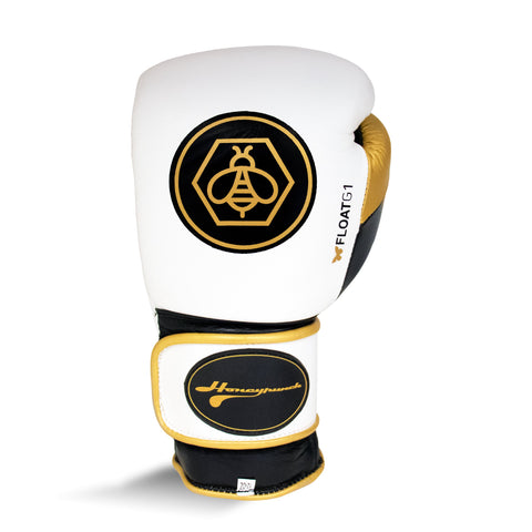 Ringside Honey Punch Float G1 Pro Spa Velcro Glove White/Gold/Black - 10oz