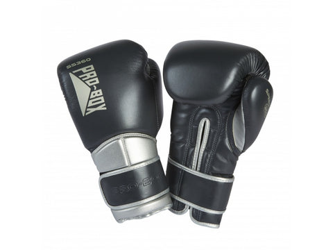 Pro-Box New Speed Lite Velcro Sparring Gloves Gunmetal/Silver - 14oz