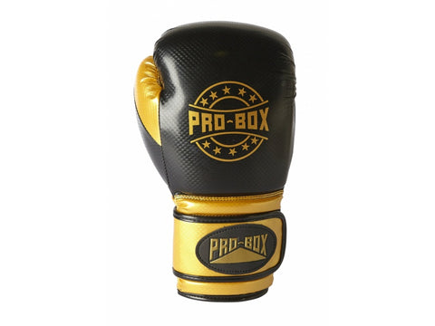 Pro-Box New Champ Spar Velcro Glove Black/Gold - 14oz
