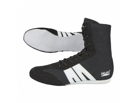 Pro-Box Senior Boxing Boots Black/White - Size 7