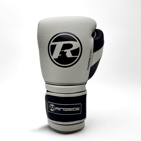 Ringside Gamma Limited Edition Series Velcro Glove Grey/Black - 14oz