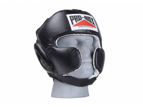 Pro-Box Super Spar Leather Head Guard Black - Medium