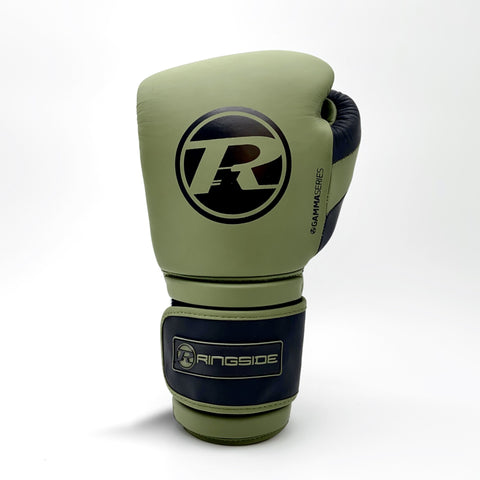 Ringside Gamma Limited Edition Series Velcro Glove Khaki/Black - 14oz
