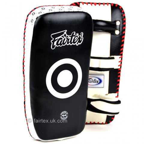 Fairtex KPLC2 Curved Standard Kick Pads Black/White