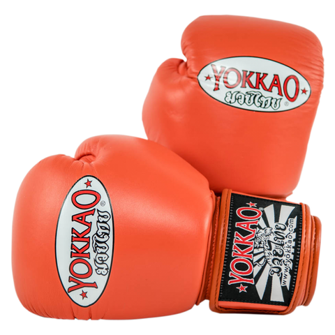 Yokkao Matrix Velcro Boxing Gloves Cherry Tomato - 16oz
