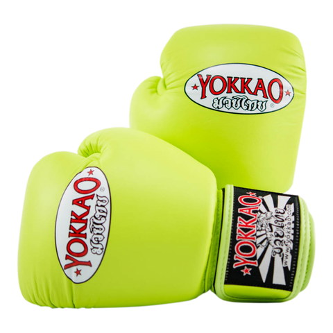 Yokkao Matrix Velcro Boxing Gloves Lime Punch - 14oz